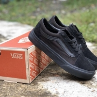 Sepatu Vans Oldschool Os Allblack fullblack hitam polos premium