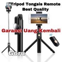 Tongsis Tripod bluetooth Remote smartphone wireless selfie stick Hp