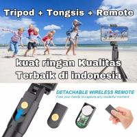 Tripod Tongsis Remote Bluetooth K10 Holder stick Mini Kuat shutter hp