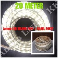 LAMPU LED STRIP SELANG SMD 5050 20M PUTIH 220V 20 M METER OUTDOOR