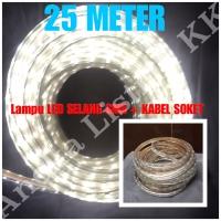 LAMPU LED STRIP SELANG SMD 5050 25M PUTIH 220V 25 M METER OUTDOOR