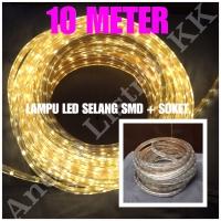 LAMPU LED STRIP SELANG SMD 5050 10M KUNING 220V 10 M METER OUTDOOR