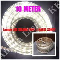 LAMPU LED STRIP SELANG SMD 5050 10M PUTIH 220V 10 M METER OUTDOOR