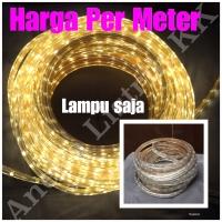 Lampu LED STRIP SELANG SMD 5050 220V OUTDOOR KUNING 1M 1 M METER