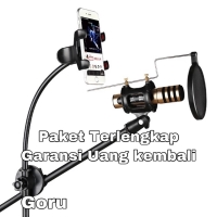 Kaki Mic Microphone Stand arm recording lagu Smart phone Holder Smule