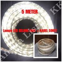 LAMPU LED STRIP SELANG SMD 5050 5M PUTIH 220V 5 M METER OUTDOOR
