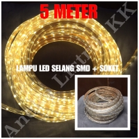 LAMPU LED STRIP SELANG SMD 5050 5M KUNING 220V 5 M METER OUTDOOR