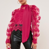 "Blouse Import Merk Inggris ""Missguided"" Pink Lace Size M £25 GBP"