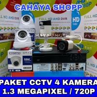 PROMO PAKET CCTV KYOMITSU 4 CHANNEL 4 KAMERA CCTV 1.3MP KOMPLIT
