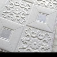 Wallpaper stiker foam brick motif batik classic