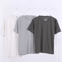 Kaos Polos Hitam Unisex/Cotton Combed 30s/Lengan Pendek/O Neck