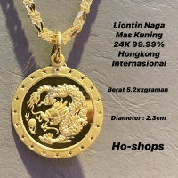 "Liontin Shio ""Naga"" 24K 99.99% Hongkong Internasional W.EA"