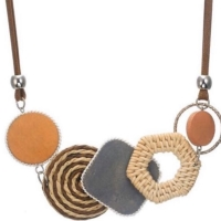 'Maia' Geometric Shapes Statement Necklace