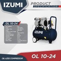 IZUMI OL 1024 Kompresor Oiless 1 HP 24 L/ Air Compresor Listrik
