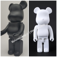 Be@rbrick White Black Color Bearbrick polos Clear