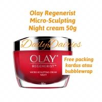 NIGHT Olay regenerist cream 50g micro sculpting krim wajah anti aging