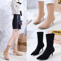 Ankle Heels Boots Wanita Fashion import