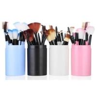 Make Up Brush 12 Set In Tube Kuas Make Up Tabung Isi 12 Pcs Set