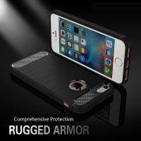 Apple iPhone 5 / 5s / SE Rugged Carbon Fiber Slim Fit Soft Case