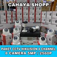 PAKET CCTV HIKVISION 8 CHANNEL 8 KAMERA CCTV 5MP KOMPLIT HDD 2TB
