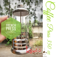 French Press 350 cc Stainless Glass Coffee press plunger