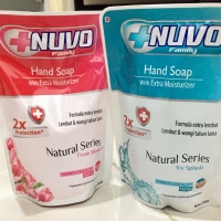 Nuvo hand soap 250ml kemasan refill.Sabun cuci tangan nuvo