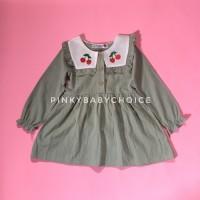 Cherry dress anak import / dress anak lucu murah