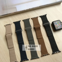 Apple Watch Tali Strap Leather Loop Kulit Band 1 2 3 4 42mm 44mm