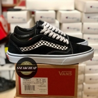 VANS OLD SKOOL Side Stripe CHECKERBOARD Black White