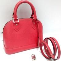 2015 LV Alma BB Epi Fuchsia Leather Bag (23 X 11 X 17 Cm)