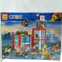 Mainan Blok LeLe Lego Cities City Brick Blok Susun 28049