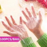 Sarung Tangan Plastik Hand Glove 1 BOX isi 100 pcs Anti Bakteri Kuman