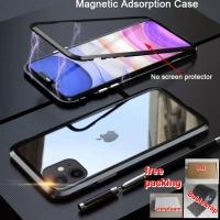 A21s Samsung CASE PREMIUM MAGNETIC Glass Case Casing Kaca Belakang