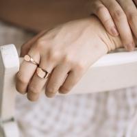 signet ring. 18k (75%) rose gold. Yoora jewellery