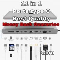 Usb C mac macbook pro 11 in 1 HDMI SD memori Card reader OTG connector