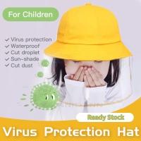 Topi masker face shield face mask untuk anak