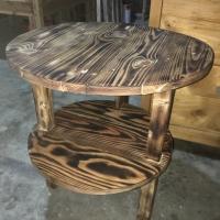 Meja mini 2 tingkat kayu jati belanda