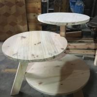 Meja mini 3 tingkat kayu jati belanda