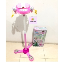 Mainan Microphone Double Layar Depan HP Anak Frozen Mickey Hello kitty