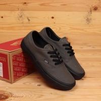 Sepatu vans authentic grey black original premium quality waffle DT