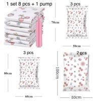 PANACHE 8 pcs/set plus 1 pcs Pump Vacuum Plastic Storage Travel Bag