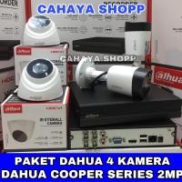 PROMO PAKET DAHUA 8 CHANNEL 4 KAMERA CCTV 2MP KOMPLIT