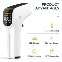 THERMOMETER INFRARED PORTABLE LCD DIGITAL NON CONTACT TEMPERATURE