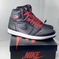AIR JORDAN 1 HIGH OG BLACK SATIN ORIGINAL 100%