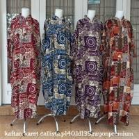 kaftan syari ukuran jumbo (gamis syari tangan karet) batik best seller