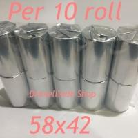 Kertas Thermal 58x42 per 10 roll