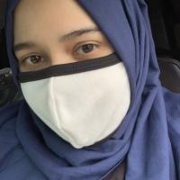 Masker Kain Premium + Filter Debu ( tidak pengap ) warna putih
