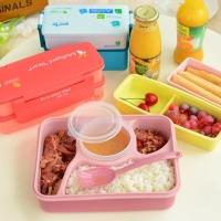 Anti Tumpah Lunch Box Kotak Makan Anak BPA FREE Microwaveable! Kedap!