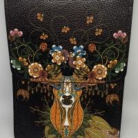 Dompet kulit painting lukis wallet asli leather handmade natural