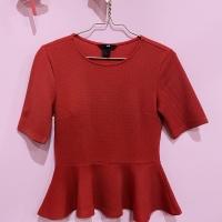 Atasan / blouse H&M merah office look